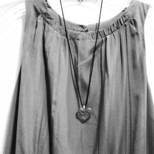 Lalique Cherub Crystal Heart Pendant